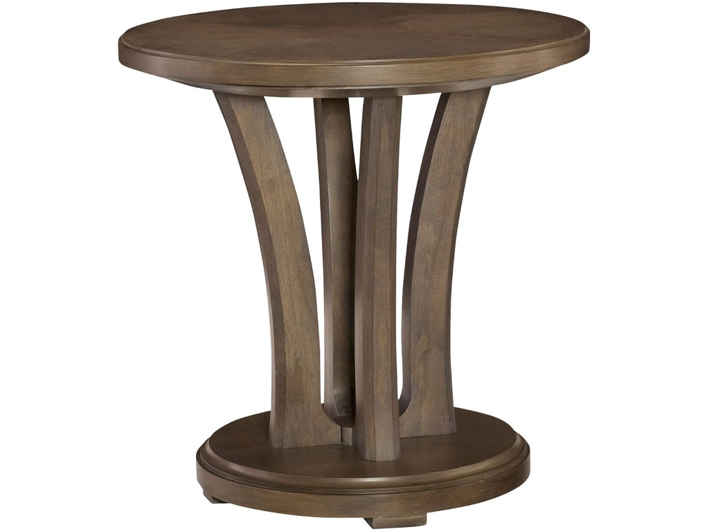Hammary Living Room Round Lamp Table 488 918 North