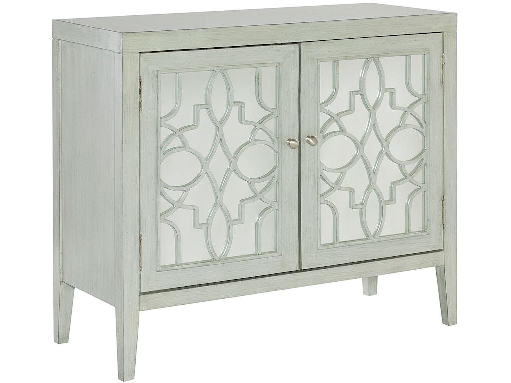 Hammary living room mirrored door cabinet 090 764 for Mirrored cabinet doors
