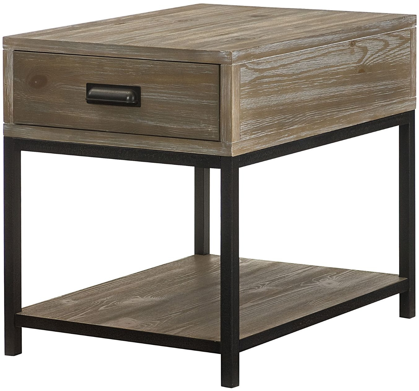 Hammary Living Room Rectangular Drawer End Table 444 915