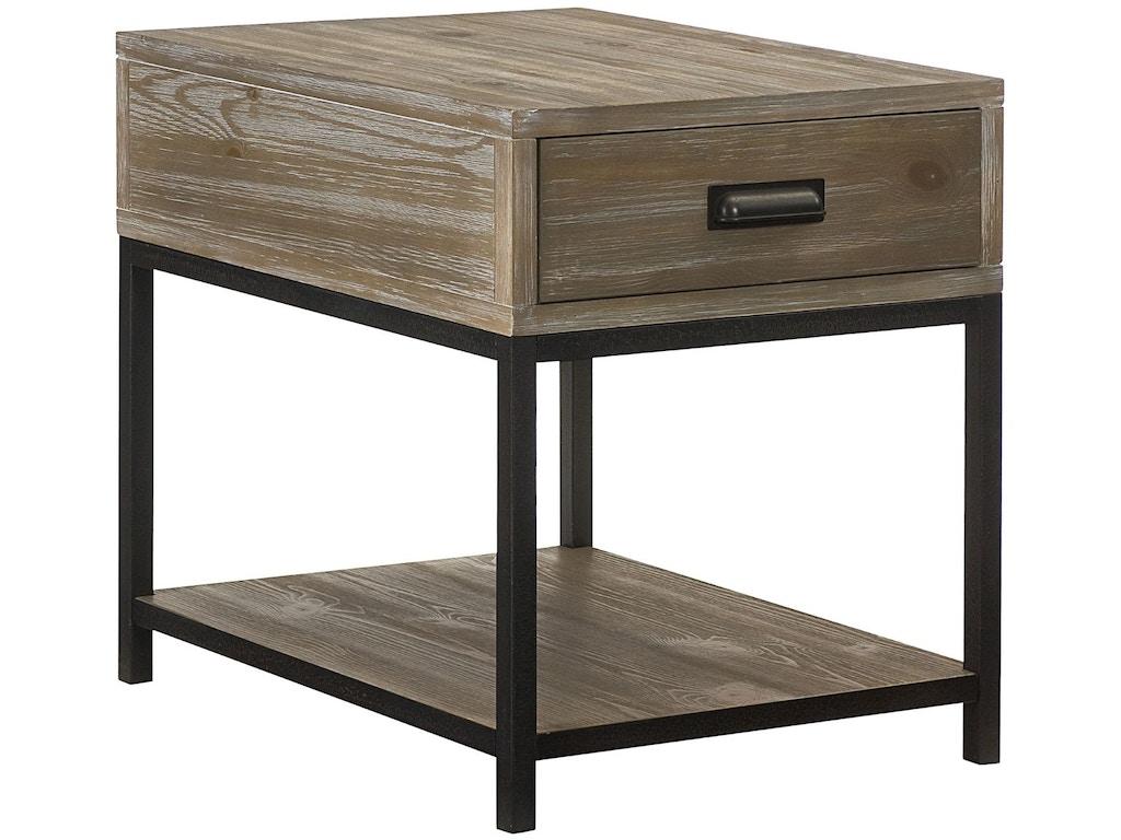 Hammary Living Room Rectangular Drawer End Table 444 915