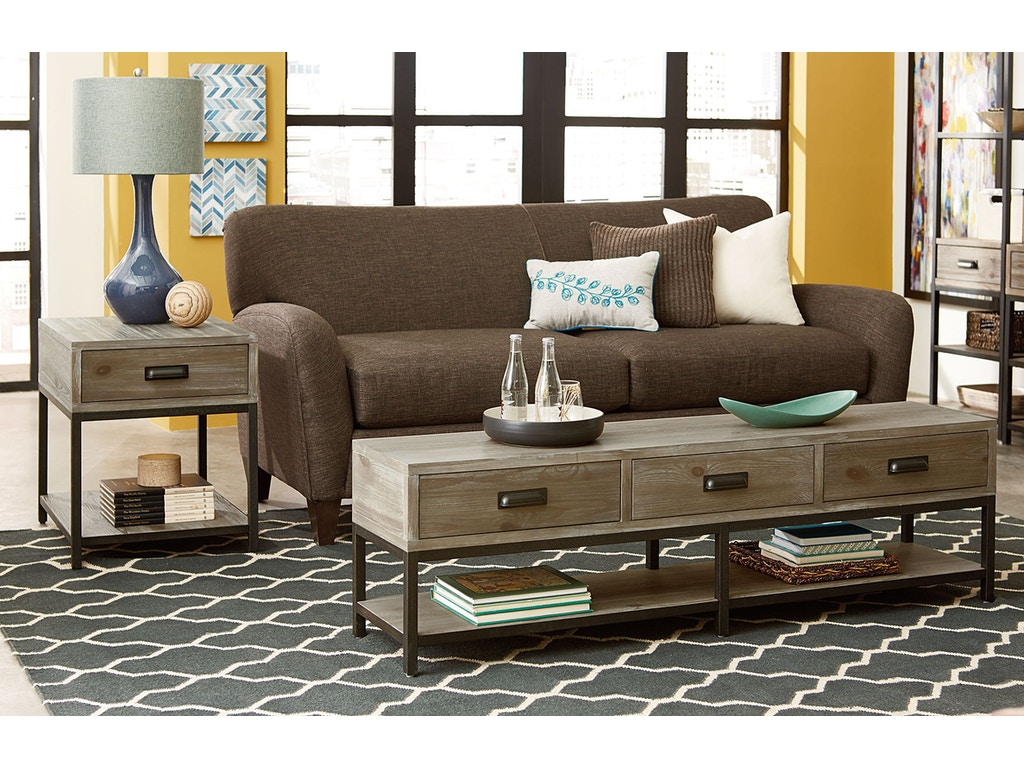Hammary Living Room Bench Cocktail 444 911 Seaside