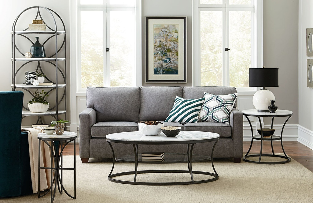 Hammary Living Room Oval Cocktail Table 576 912 Kettle