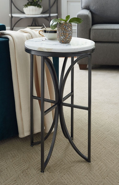 small round accent table Hammary Living Room Small Round Accent Table 576 917   Habegger  small round accent table