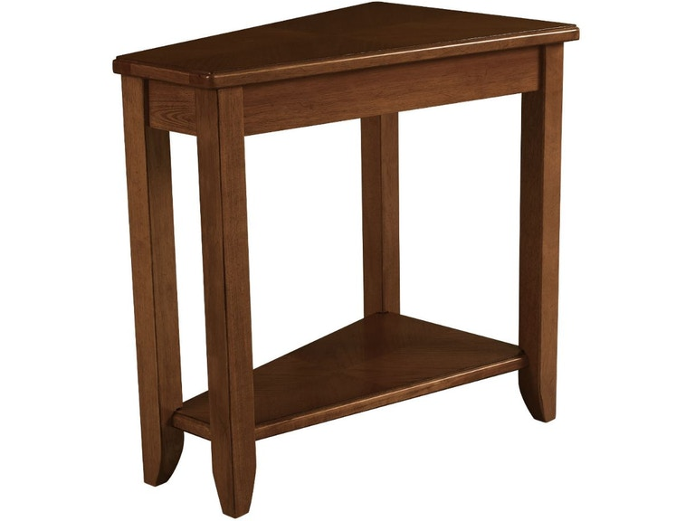 Hammary Living Room Wedge Chairside Table Oak 200 T00220