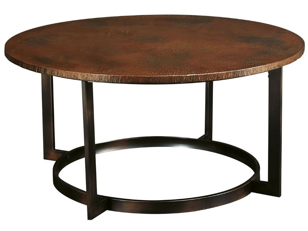 Hammary living room round cocktail table t20630 t2063205 for Cocktail tables and chairs