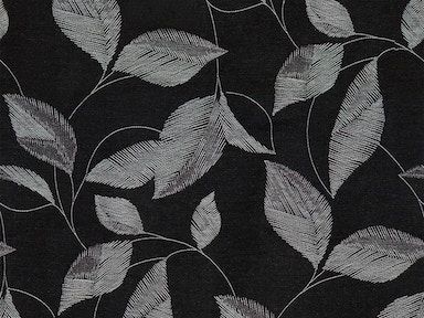 440416 STITCHED LEAF BLACK