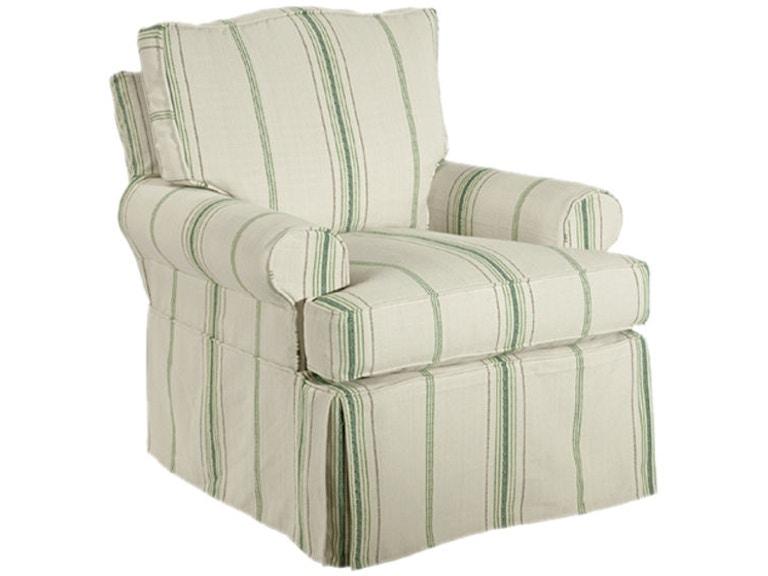 Kincaid Furniture Living Room Slipcover Swivel Chair 125-94