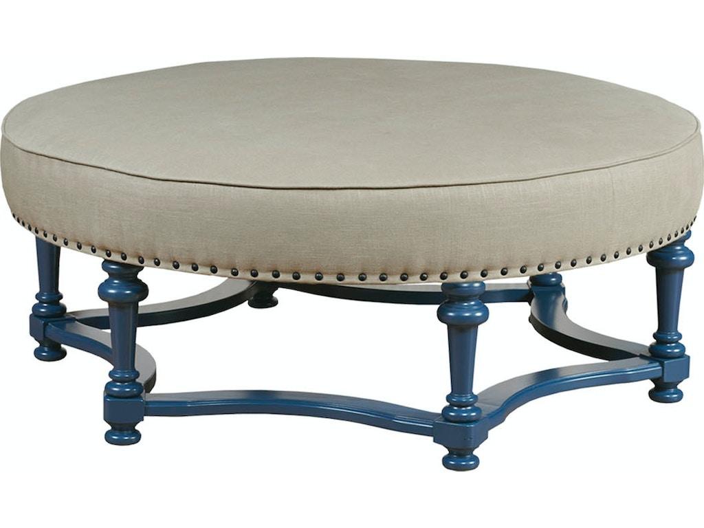 Terrific Kincaid Furniture Living Room Round Cocktail Ottoman 141 03 Uwap Interior Chair Design Uwaporg