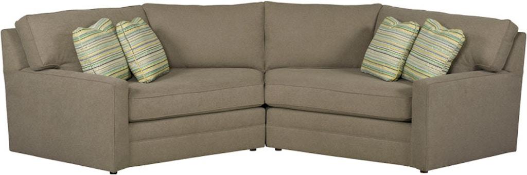 free shipping 13d0b 30d9b Kincaid Furniture Living Room LAF Cuddler 177-Sectional ...