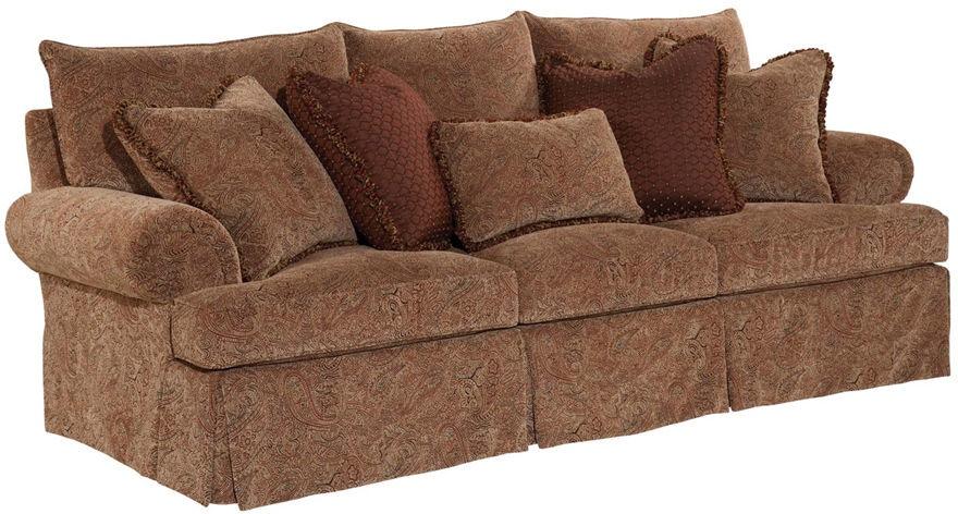 kincaid furniture living room oakmont sofa 63587