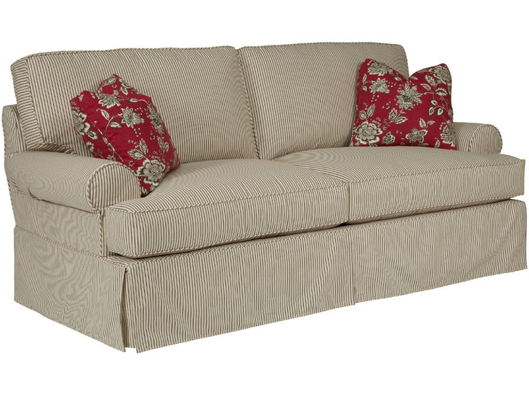 Kincaid Furniture Living Room Samantha Slipcover Sofa