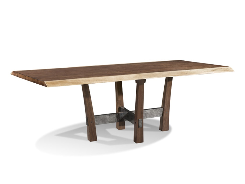 Harden Furniture Dining Room Live Edge Iron Base Dining Table 1662 Woodbrid