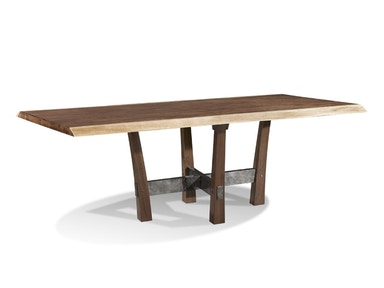 Harden Furniture Live-edge/Iron Base Dining Table 1662