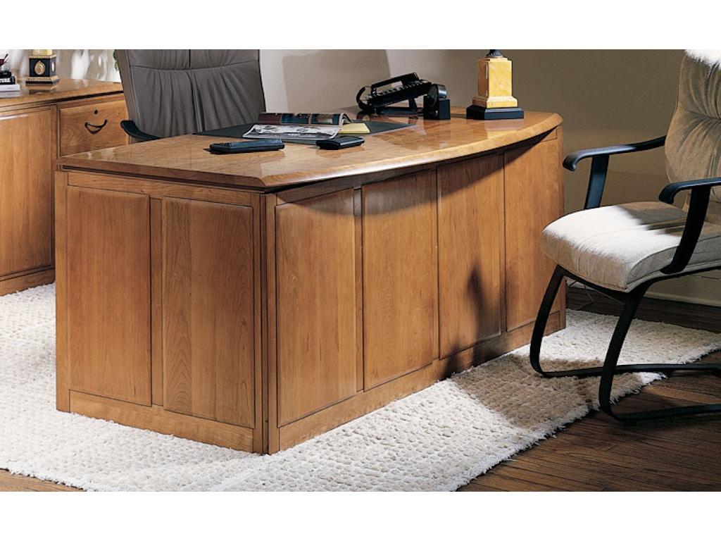 Harden Furniture Home Office Double Pedestal Bow Front Desk 1751 Hickory Furniture Mart