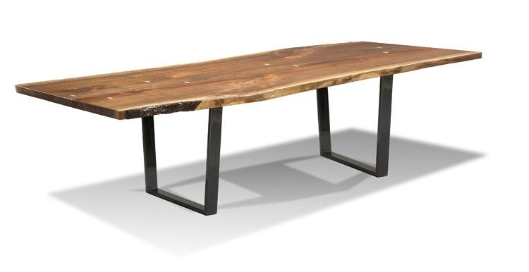 harden furniture #1676 liveedge/metal base dining table | interiors