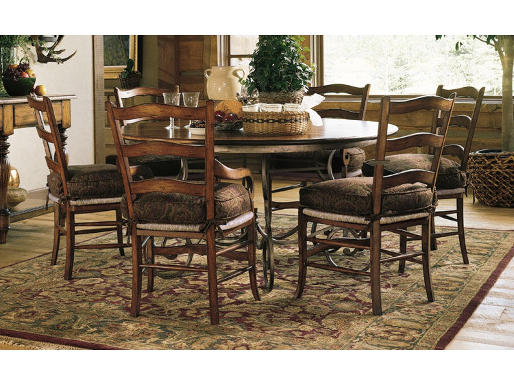 60 round dining table hd1362 for Walter e smithe dining room furniture