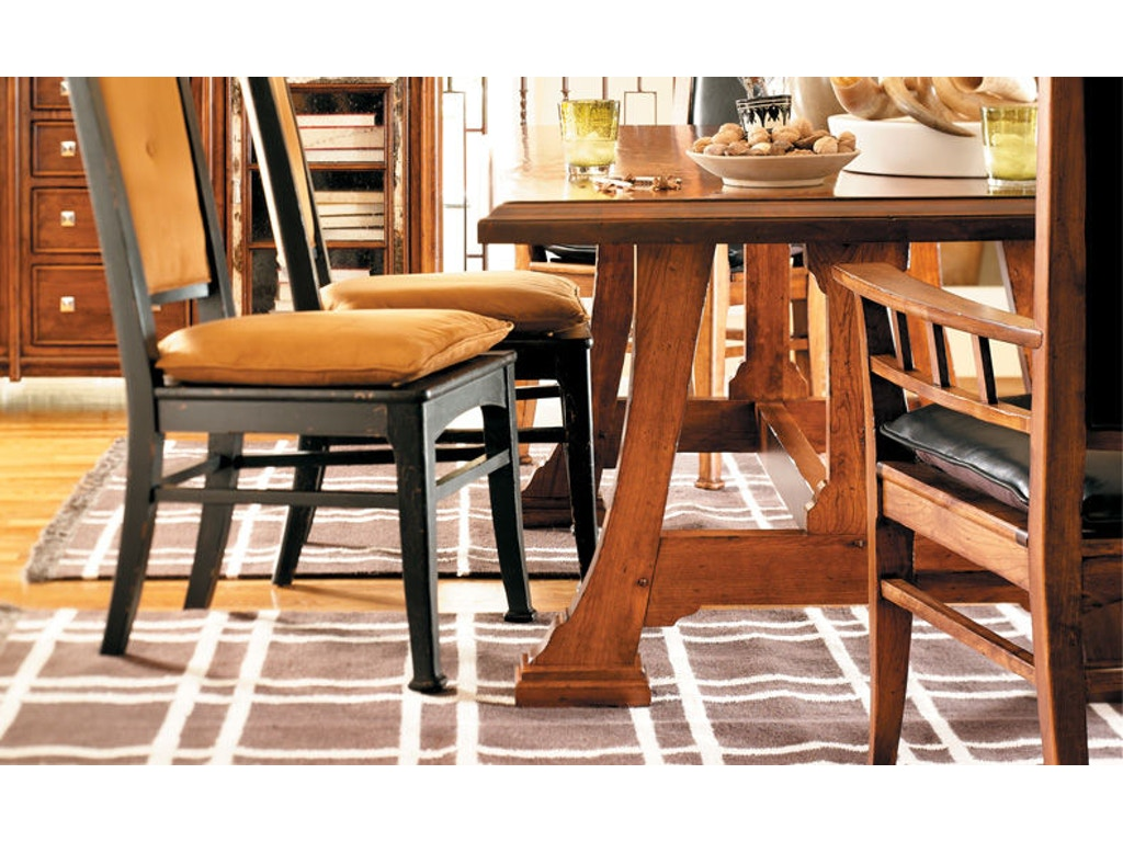 Harden Furniture Dining Room Napa Trestle Table With Leaves 1698 Woodbridge