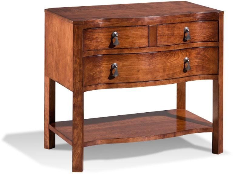 Harden Furniture Bedroom Serpentine Night Stand 870 Imi Furniture