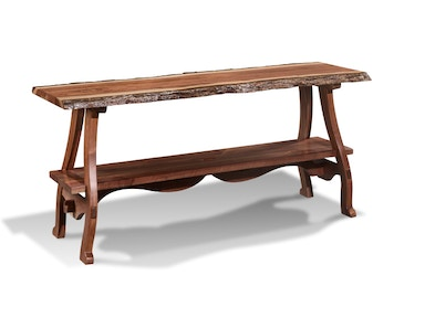 Harden Furniture Live-edge Iron Road Consoles 1667