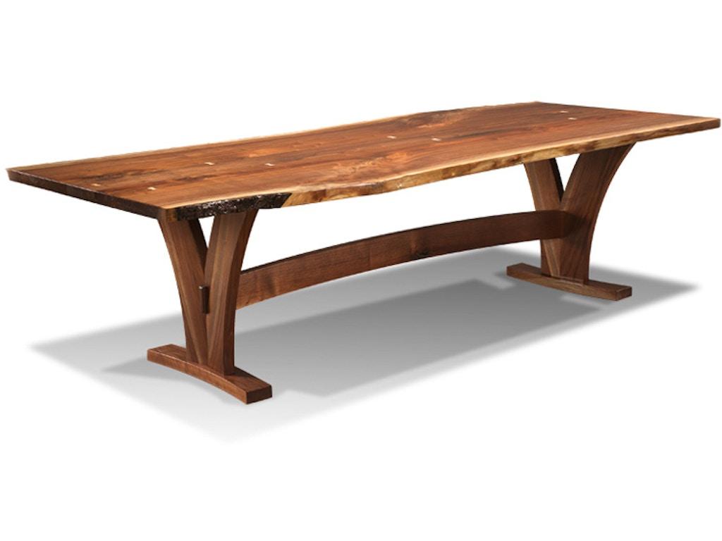 Harden Furniture Dining Room Liveedge Wood Base Dining