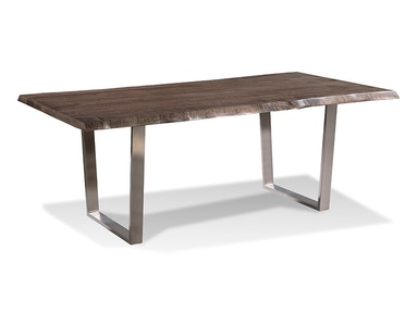 Harden Furniture Live-edge/Brushed Stainless Steel Base Dining Table 1673