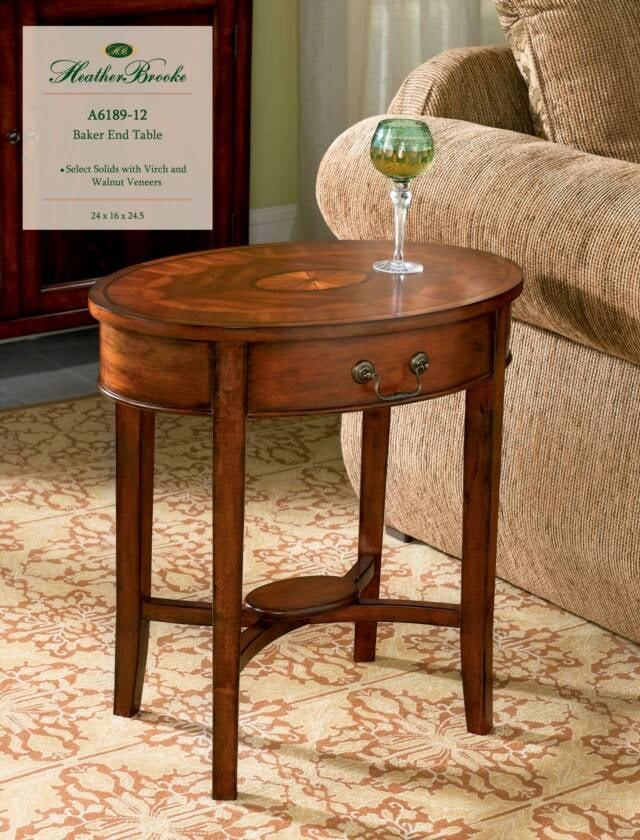 Awesome Heather Brooke Baker End Table A6189 12
