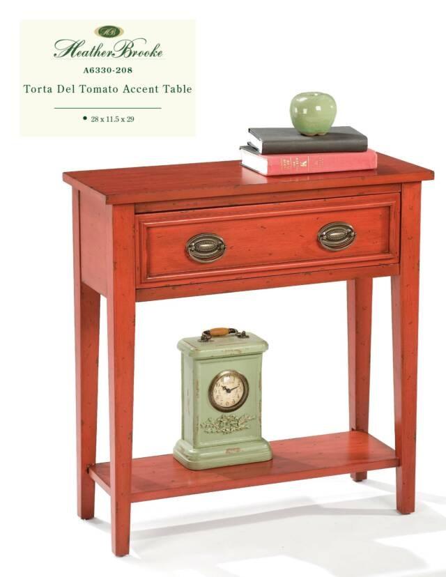 Heather Brooke Torta Del Tomato Accent Table A6330 208