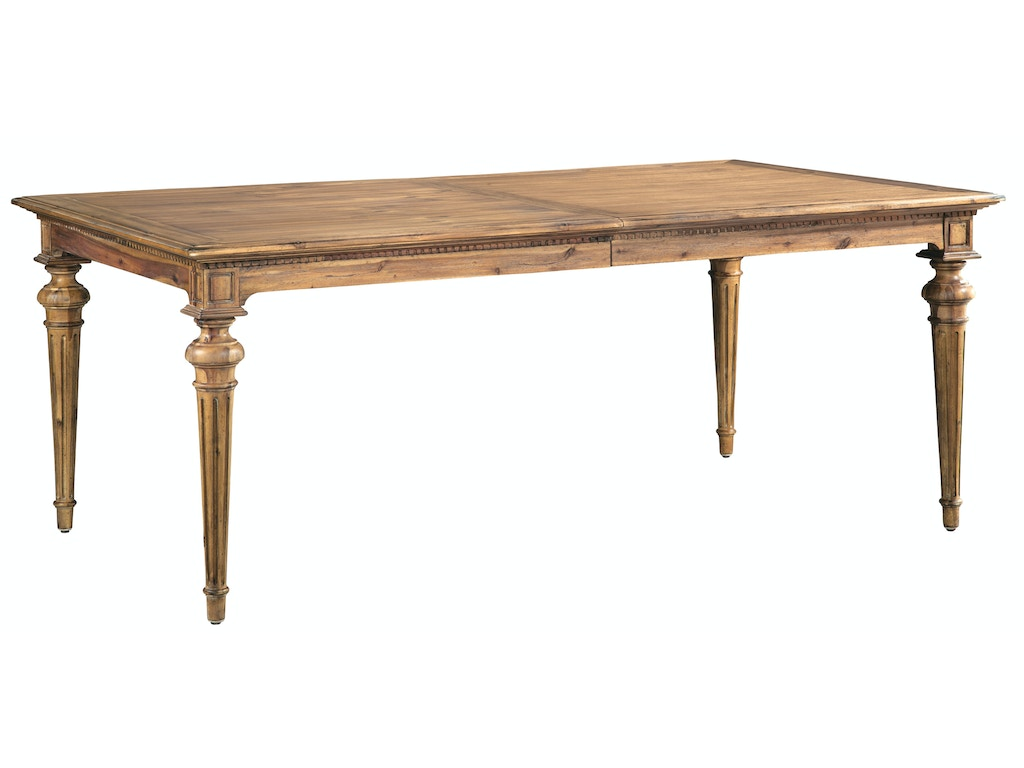 hekman dining room rectangle dining table 23320