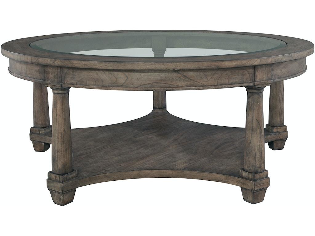 Hekman living room round coffee table 23502 elite interiors myrtle beach sc Round coffee table in living room