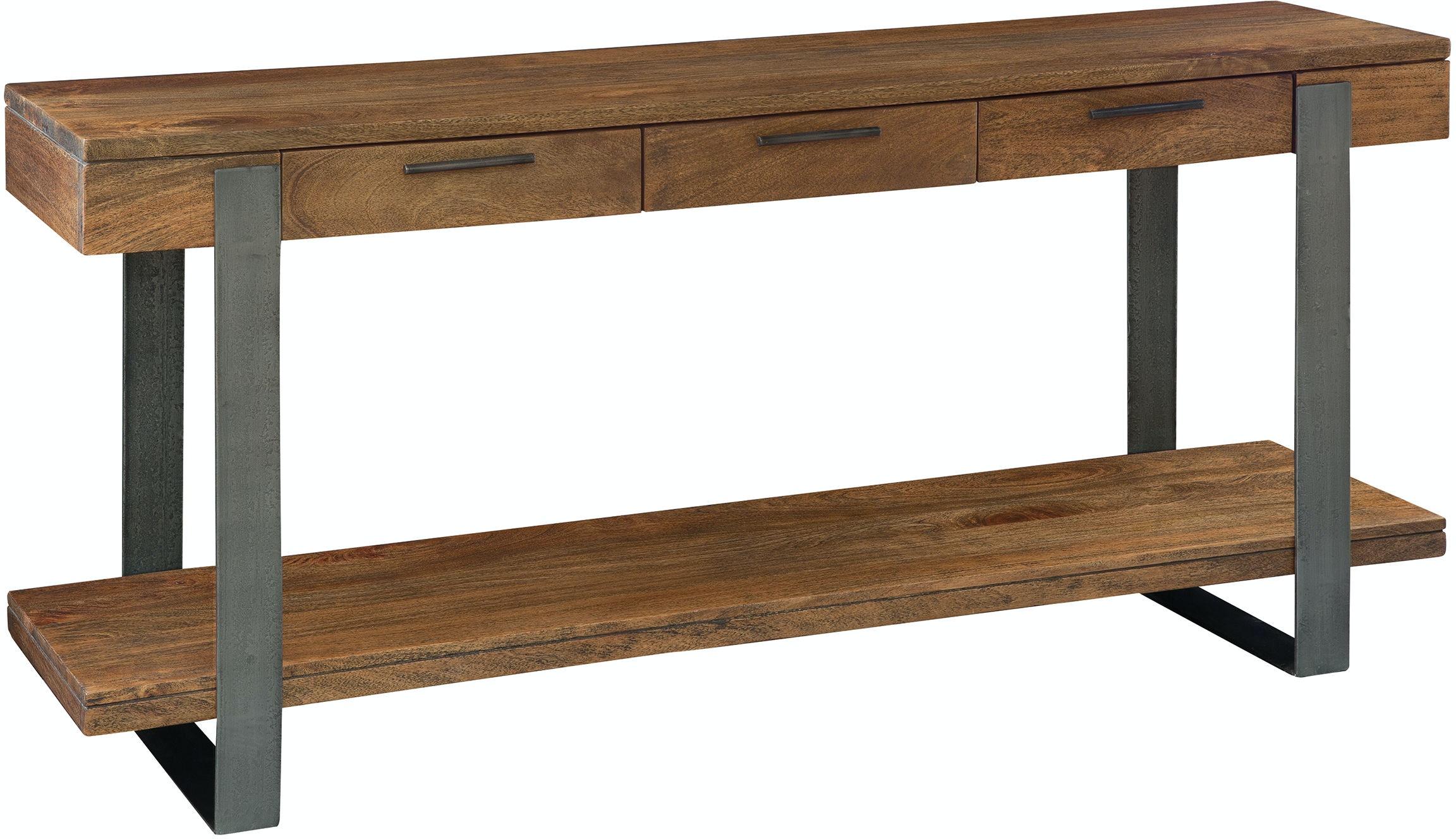 Hekman Iron Strapping Sofa Table