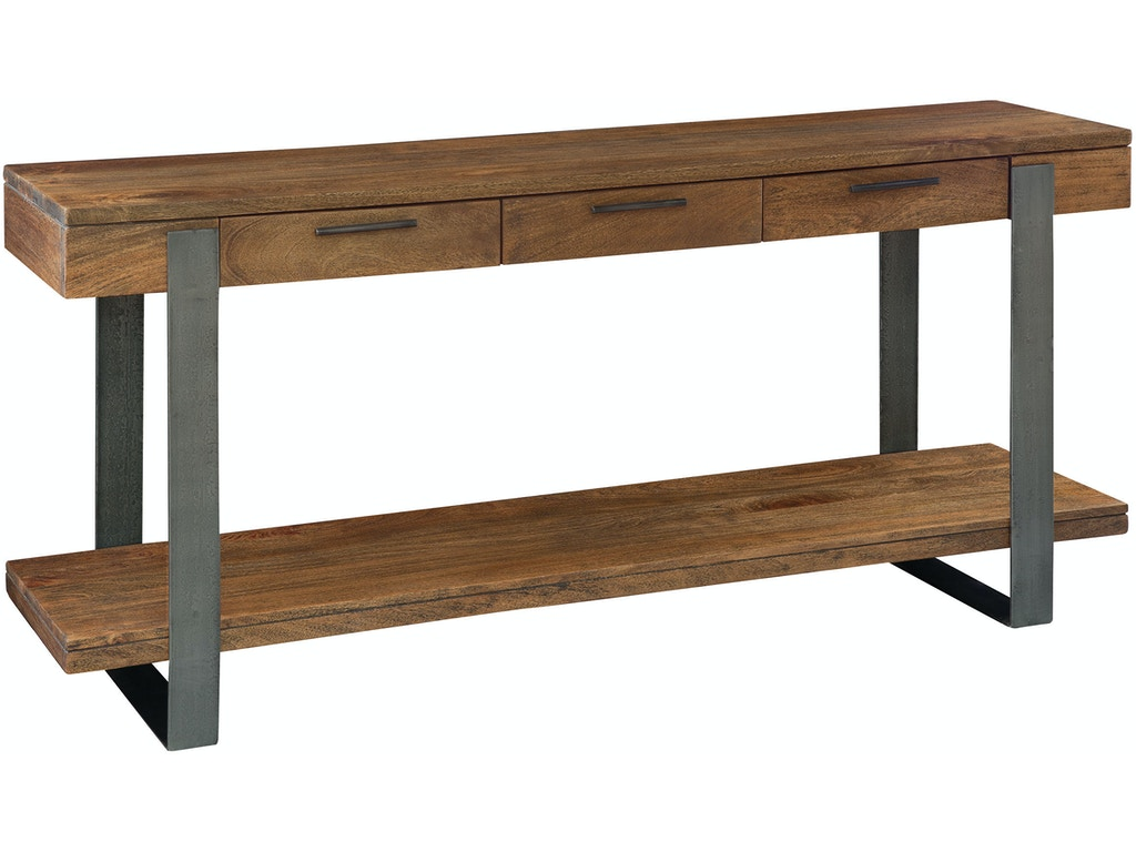 Iron strapping sofa table 23709 for Walter e smithe living room