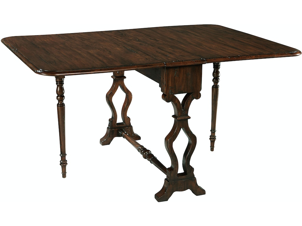 hekman dining room drop leaf table 27245 woodchucks fine