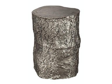 Hekman Antique Nickel Tree Trunk Stool 2-7755