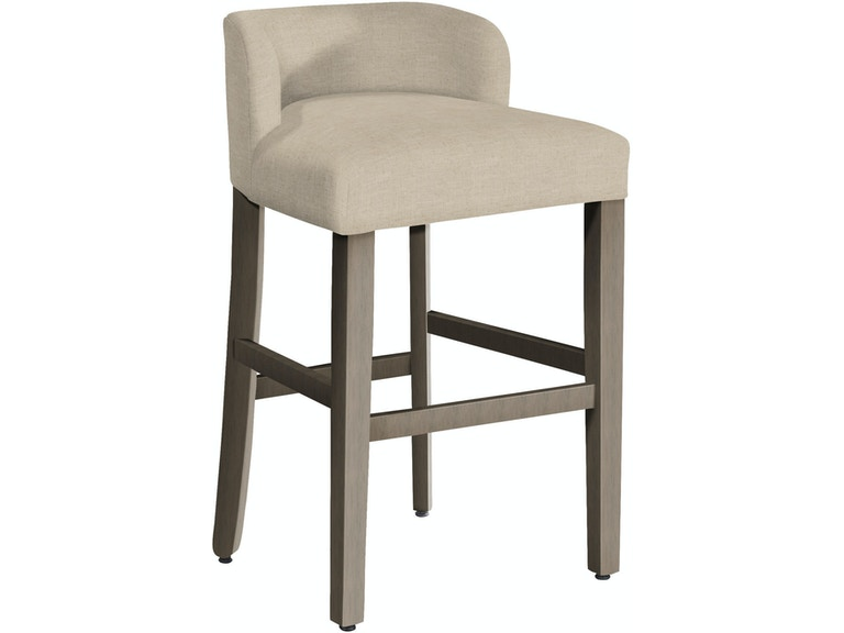 Hekman Bar Stool Aged Grey Finish 7417g
