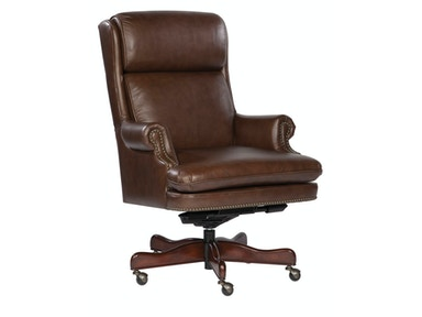 Hekman Coffee Leather Executive Chair 7-9252C