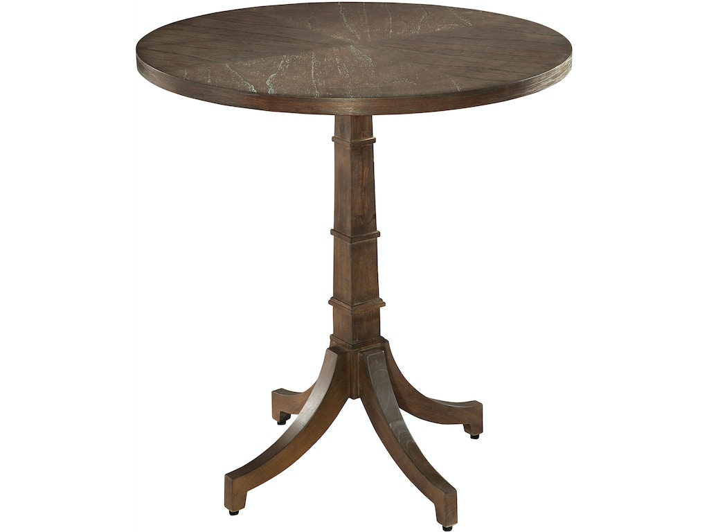 Hekman Living Room Round Chair Side Table 952206su Charter Furniture Dallas Fort Worth Tx