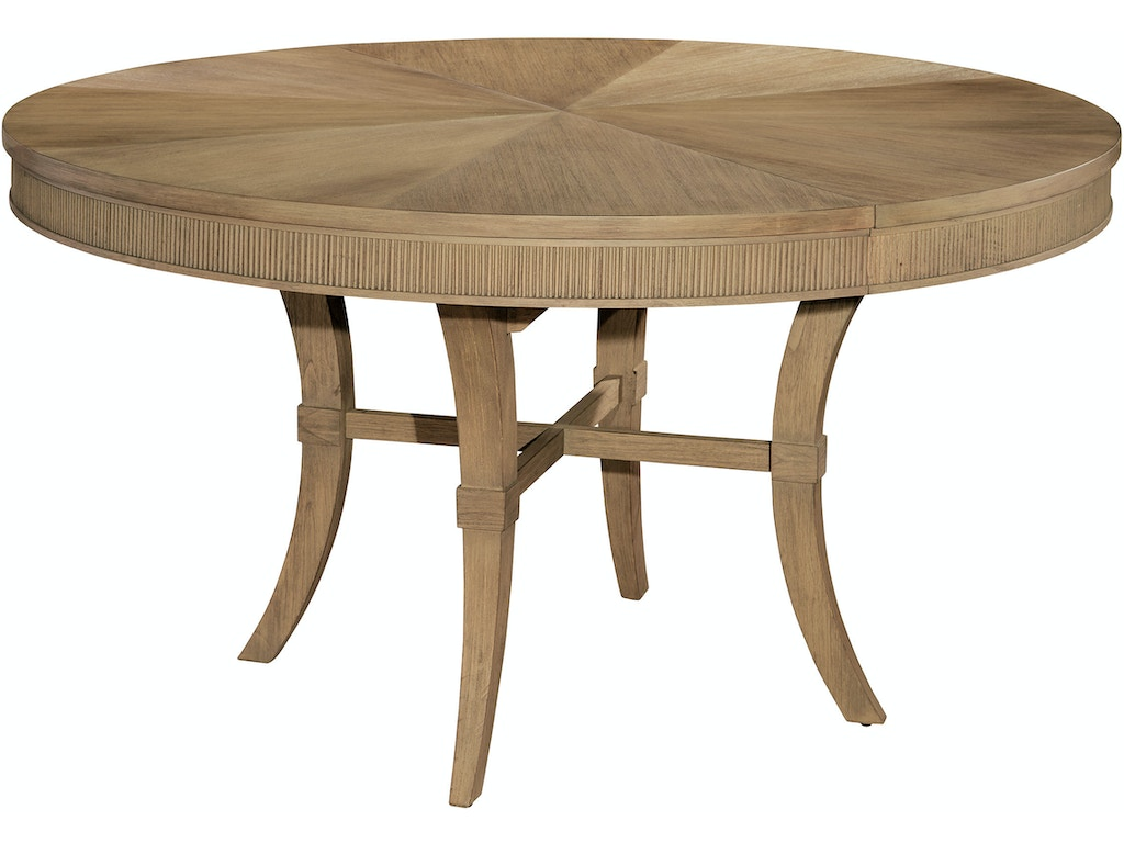Hekman dining room round dining table 952226kh for Fine dining room tables