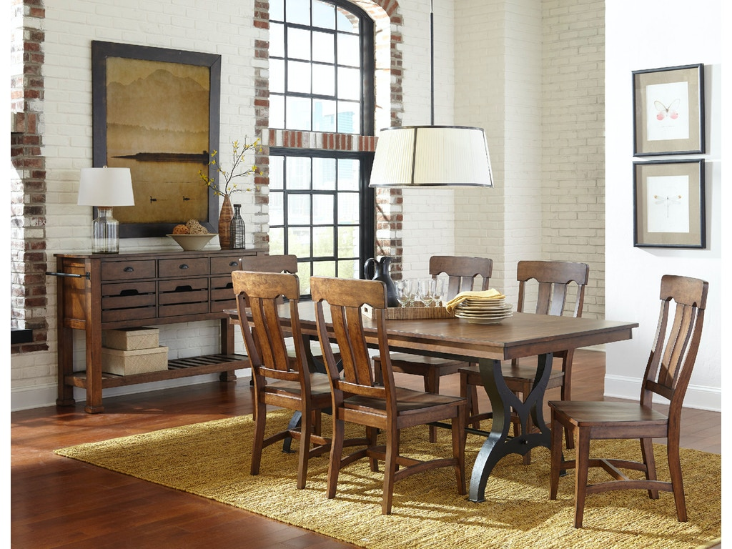 Intercon The District Collections Dining Table DT TA 4296 CCR TOP