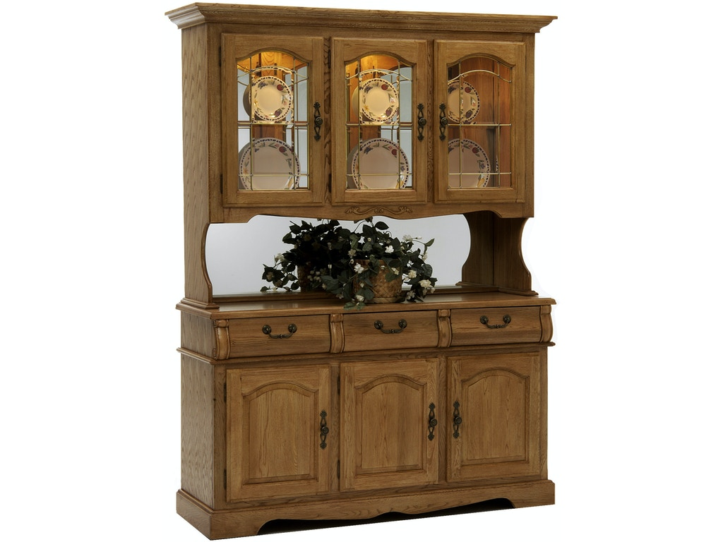 Intercon Dining Room Classic Oak Burnished Large China ...