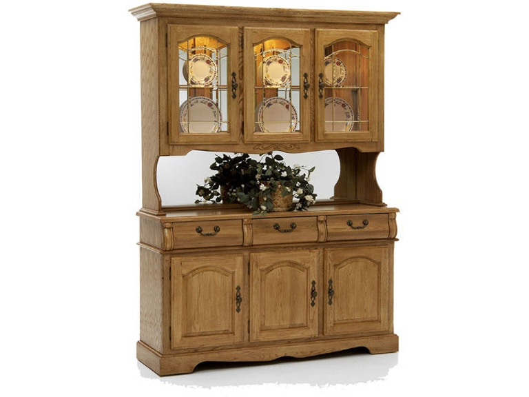 Intercon Dining Room Classic Oak Large China Hutch At Colony House Inc