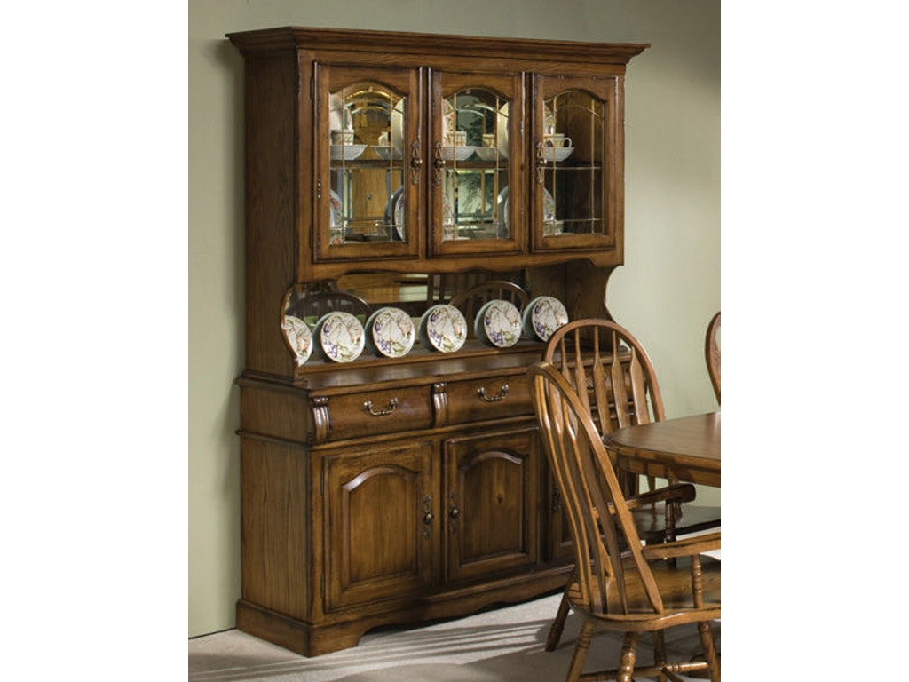 Intercon Dining Room Classic Oak Large China Cabinet Co Ca