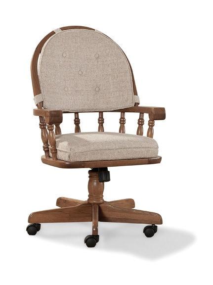 Intercon Classic Oak Tilt Swivel Game Chair CO CH 2501 CNT SU