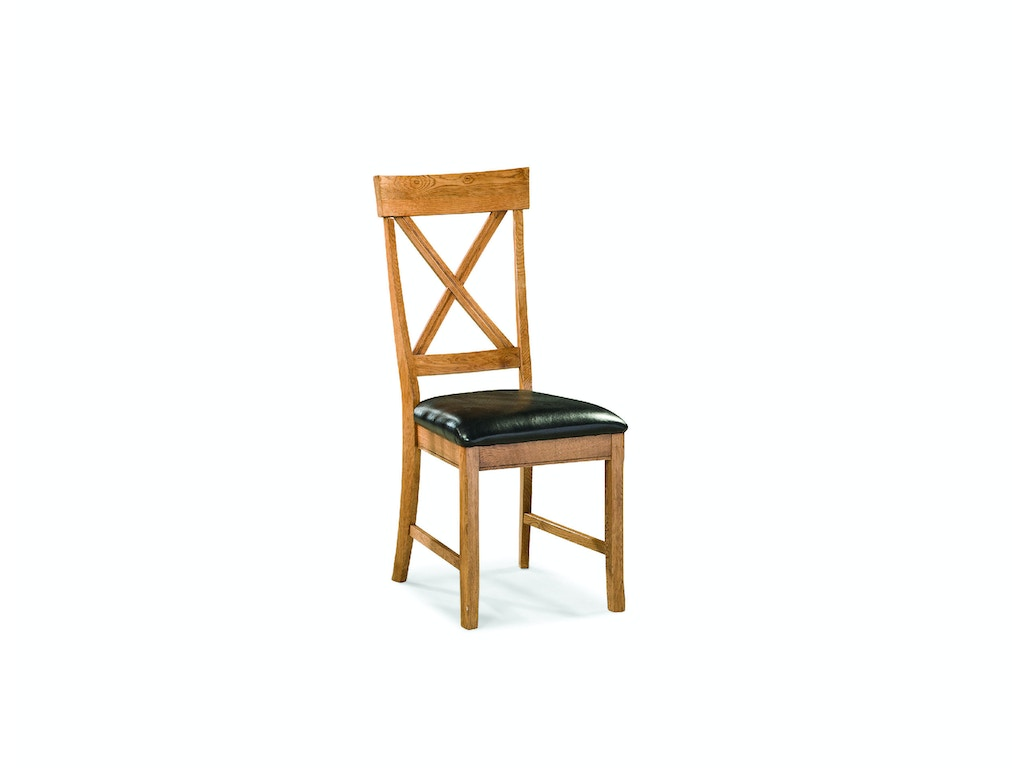 Intercon dining room family dining x back side chair for X back dining room chairs