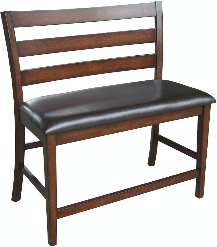 Intercon Dining Room Kona Ladder Back Counter Height Bench