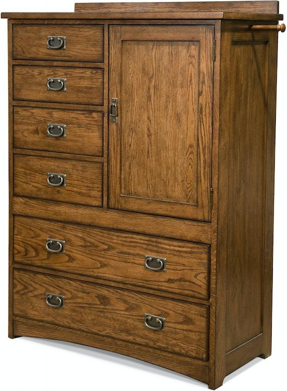 Intercon Bedroom Oak Park Six Drawer Gentleman S Chest Op Br