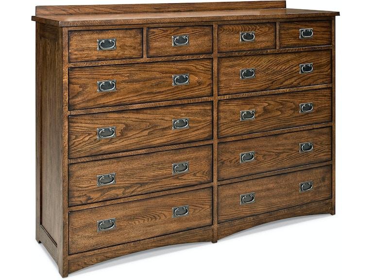 Intercon Oak Park 12 Drawer Dresser Op Br 5812 Mis C
