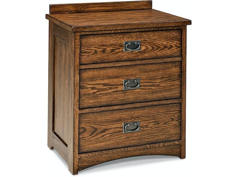 Intercon Nightstand 3 Drawer Oak Park 242634