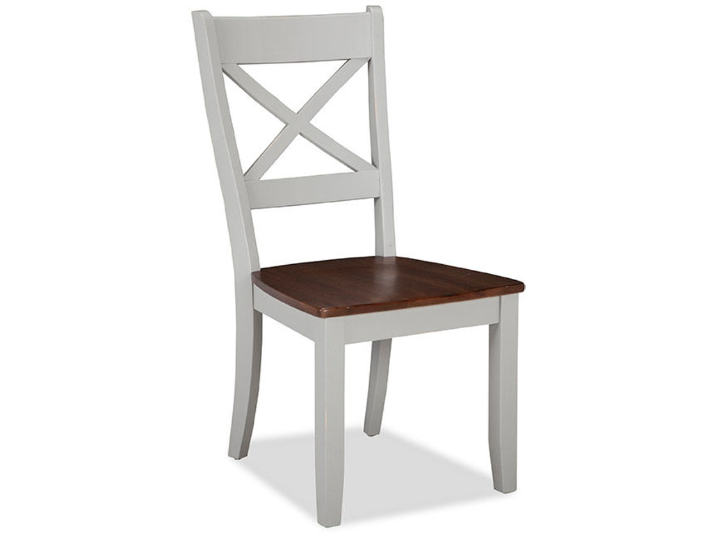 Intercon dining room small space x back side chair ss ch for X back dining room chairs