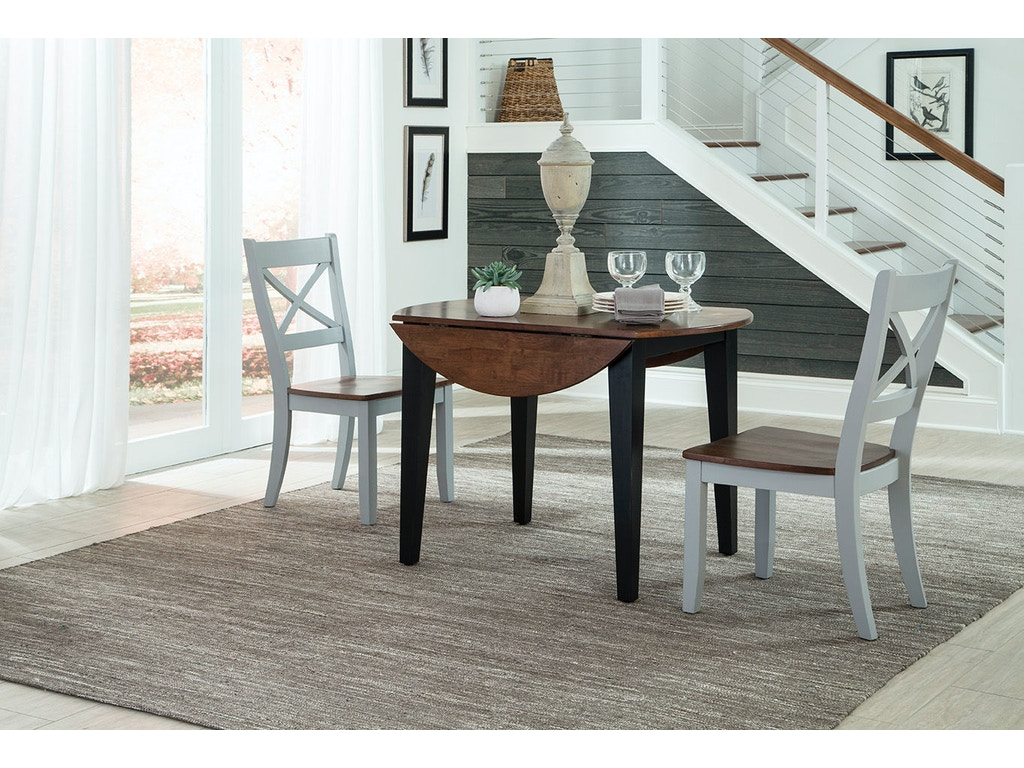Intercon Dining Room Small Space Dining X Back Side Chair