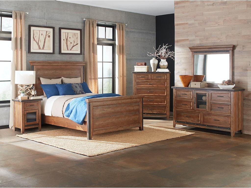 Intercon Bedroom Taos Standard Bed Ts Br 3565qk Cyb C